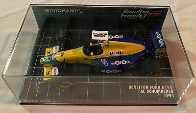 1:43 Minichamps Michael Schumacher Benetton Ford B191 1991 • 25£