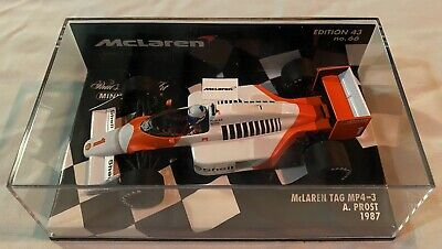 1:43 Minichamps Alain Prost McLaren Tag MP4-3 1987 No.1 • 115£