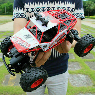 RC Car Monster Truck Toy Kids Gift Big Wheel 2.4 GHz Fast Speed Remote Control • 17.99£