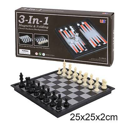 New Magnetic Folding Chess Board Portable Set High Quality Games Camping Travel • 4.89£