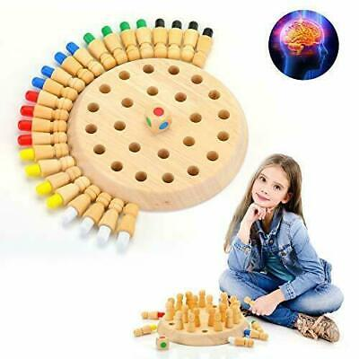 Kids Wooden Memory Match Stick Chess Game Puzzle Toy Training Fun Board Game N • 9.95£