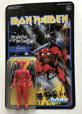 Super7 ReAction Figure Iron Maiden Number Of The Beast MOC • 19.99£