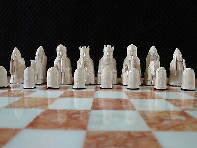 The Isle Of Lewis Chess Set Chessmen Game Pieces Fascinating -   Medieval Style  • 32£