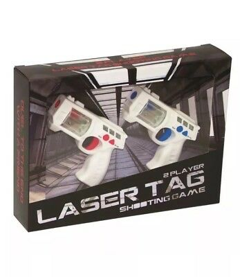 Laser Tag 2 Player Lazer Shooting Game Blaster Official Game - New Damaged Box • 9.49£