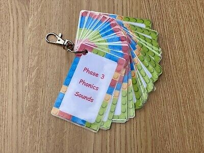 Phonics Sounds & Words Phase 3  Flashcards Primary School Key Stages • 5.95£