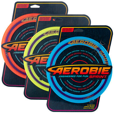Aerobie 10  Sprint Ring Flying Disc Outdoor Frisbee Toy Game Orange/Yellow/Blue • 9.95£