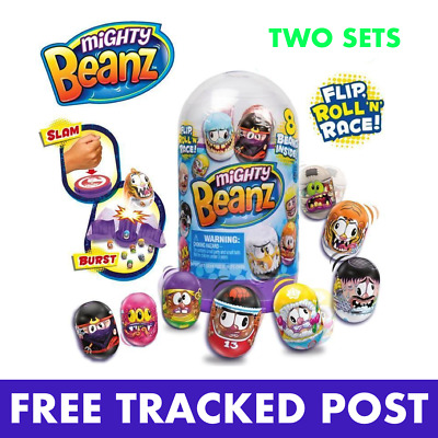2 X Mighty Beanz Slam Pack - Great Fun, 8 Beanz In Each Set - Free Tracked Post • 16.99£