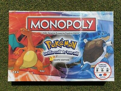 Pokemon Monopoly Kanto Edition - Brand New Sealed Uk- Board Game Usaopoly Bnib • 23.75£