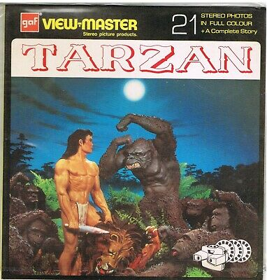 VIEWMASTER REEL NB444-E: TARZAN: 21 STEREO PHOTOS: NEW (OPENED) 1970s • 8.99£
