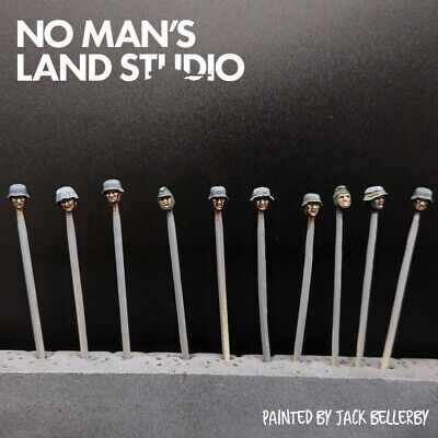 Pro Painted 28mm Bolt Action German Heads (Winter) ×10 • 16£