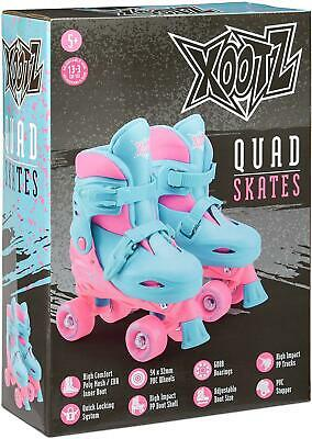 Girls Adjustable 4 Wheel Quad Roller Skates With Cushioned Ankle Support Medium • 20.31£