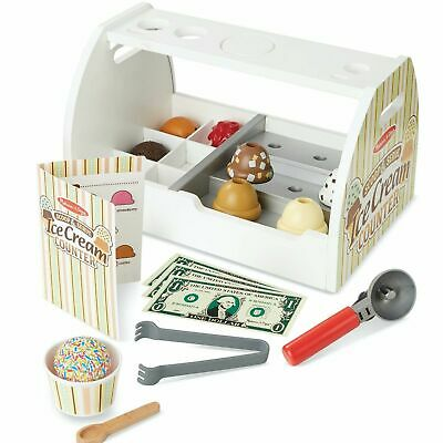 Melissa & Doug Childrens 28 Piece Ice Cream Serving Counter - For Ages 4+ Years • 34.35£