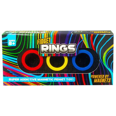 Magnetic Fidget Rings: Pack Of 3 Assorted, Toys & Games, Brand New • 6£