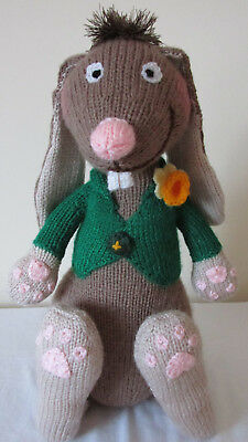 The Mad March Hare- New Hand Knitted Soft Toy • 22£
