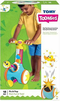 Tomy Toomies Pic & Pop Push Along Children's Fun Walking Toy New & Boxed • 18.99£