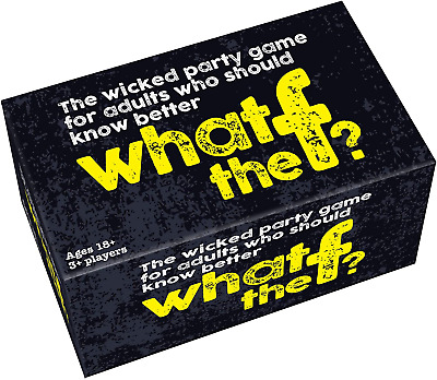 WTF? Adult Quiz Card Game - Cheatwell Games What The F Party Game For Adults • 13.99£