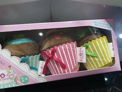 New 3x Muffins & 4x Donuts Childs Toy Shop Kitchen Soft Material Gift Play Food • 19.99£