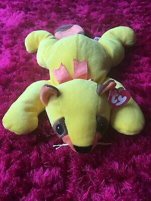 TY The Pillow Pals Collection Rusty Yellow Raccoon 1998 Rare • 25£