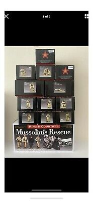 King And Country German Fallschirmjager 16 Figures IncludingMussolini's Rescue • 699.99£