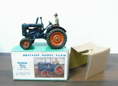 Britains Vintage 128f 1948 Lead Fordson Major Farm Tractor Near Mint Boxed • 180£