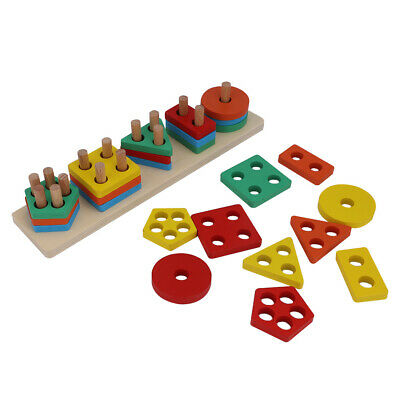 Toys For 1 2 3 4 5 Year Preschool Old Boys Girls Toddler Educational Wooden • 9.99£