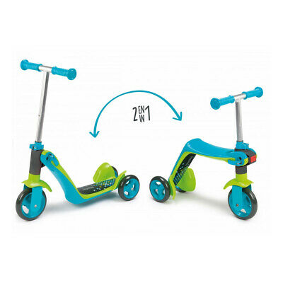 SMOBY Children's Switch Blue 2-in-1 Rider-on Scooter, Unisex • 46.78£