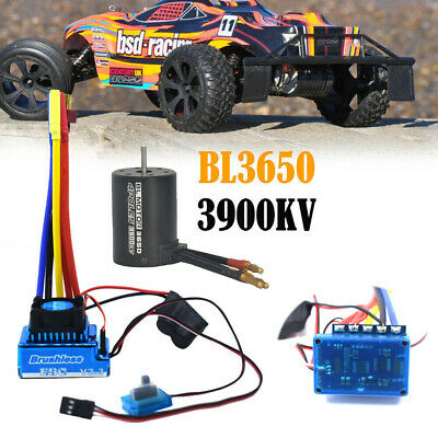 Brushless Motor 120A ESC Combo Electric Speed Controller For 1/10 RC Truck Car • 33.39£