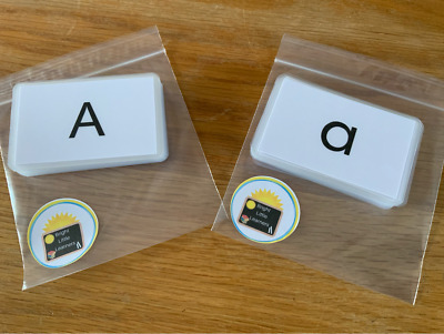 Alphabet Flash Cards A-Z Kids Toddlers Preschool Early Learning Resource Sen • 5.99£