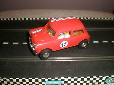 Scalextric Mini Cooper  Type 3  (Red) RX Engine - V/G Condition Unboxed Used C7 • 26.99£
