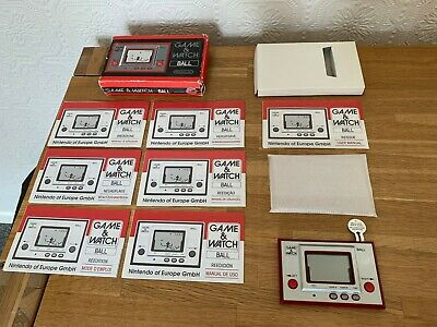 Superior Boxed Nintendo Game & Watch Ball Re-Issue LCD Electronic Game - Mint ! • 105£