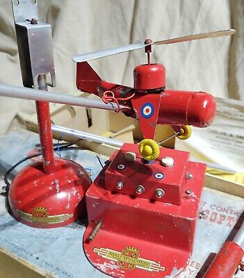 Early Vintage Nulli Secundus Remote Control Helicopter Set 3 Speed British Toy • 48£