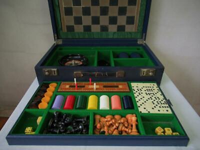 Antique Or Vintage  F.h. Ayres Large Compendium Games Box And Chess Backgammon • 364.99£