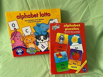 Children's Alphabet Puzzle And Lotto Game Learning Pre-school Orchard Toys Galt • 0.01£
