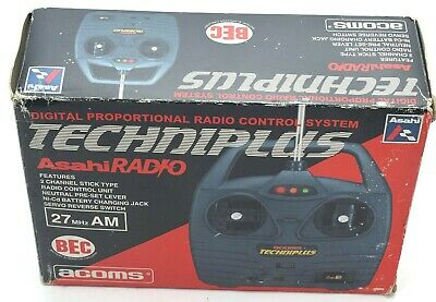 ACOMS TECHNIPLUS 27mhz AM FULL RADIO CONTROL RC REMOTE BOXED VINTAGE TAMIYA • 52.85£