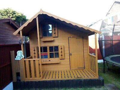 Children's Wooden 2 Story Outdoor Playhouse / Wendy House • 150£