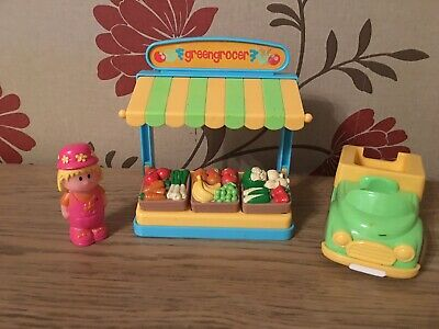 Happyland Green Grocer Set With Stand Figure And Van • 4.95£