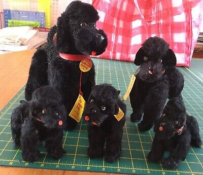 Steiff Poodle Snobby Collection Of 5 Various Sizes Vintage • 99.95£