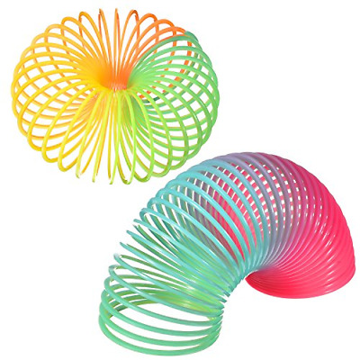 LARGE Rainbow Magic Springs Slinky Spring Coil Toy Kids Party Bag Fillers • 7£