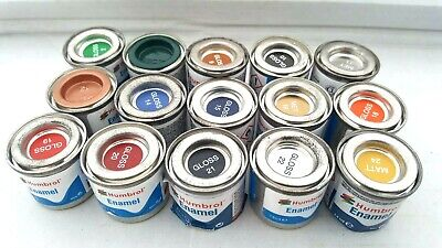 A 15 X 14ml Tins Of Humbrol Enamel Hornby Airfix Model Paints New/old Shop Stock • 15£