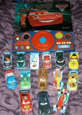 Bundle Of Disney Cars 3 Die Cast Vehicles, With Sound Book • 30£