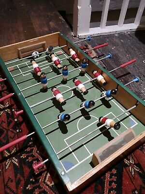 Vintage Tabletop Wooden Football Game • 65£