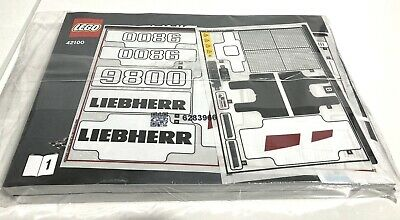 LEGO® Technic Instructions & Stickers For Set 42100 Liebherr • 6.99£