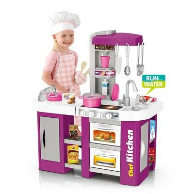 Boys Girls Childrens Kids Kitchen Play Set Pretend Toy Game Tools For Xmas Gift • 41.35£