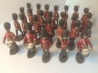 Elastolin 54mm Guardsmen With Fife And Drums X 26. • 69.99£