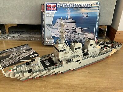 Megabloks 9762 Probuilder Destroyer With Box - 99% Complete But In Good State • 5£