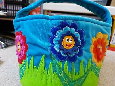 Felt Kids Basket Toy New Without Tag. Flowers Ideal For Treasures Shopping Shop • 2.99£