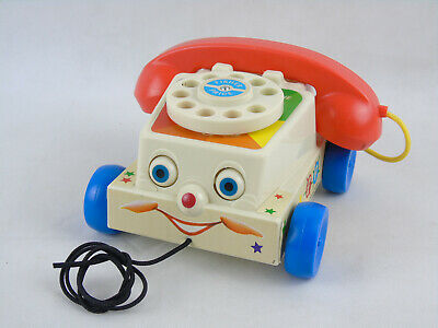 Vintage Fisher Price Chatter Telephone Pull Along 1961 Original - Model 747 • 13.99£