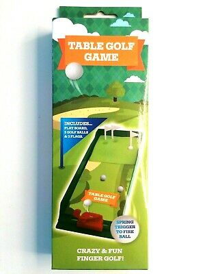 Table Top Mini Golf Boxed Game, Christmas Stocking Filler FUN PARTY UK Seller • 2.99£