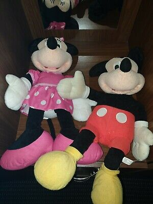 Mickey And Minnie Mouse Soft Toy • 2.70£