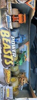 **Brand New** Spinmaster Monster Jam POWER BEASTS, <<4 Truck Pack >> 1:64 Scale • 18£